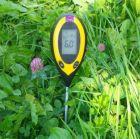 pH instrument elektronisk för torv/jord, fukt och temp