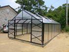 Växthus SCANDI 400 4x4m isoler 10mm polykarbonat 16m²  (kan förlängas till 120m²)
